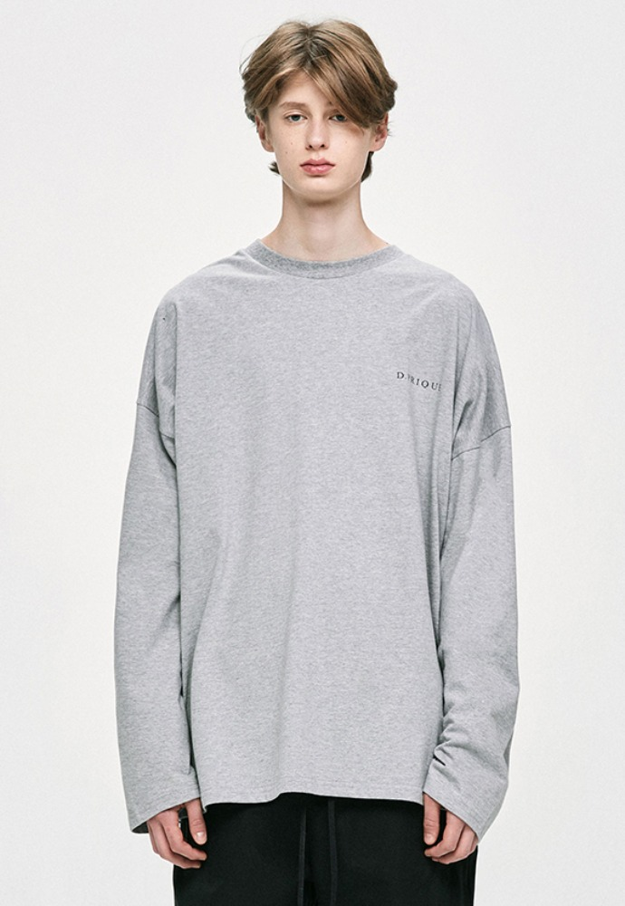D.prique디프리크 Long Sleeve T-Shirt - Grey