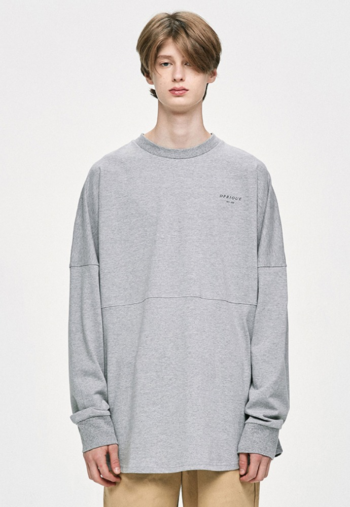 D.prique디프리크 Crewneck T-Shirt- Grey