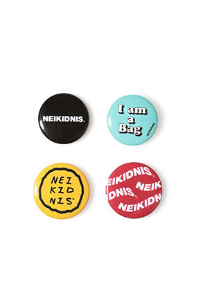 NEIKIDNIS네이키드니스 LOGO BUTTON BADGE SET (4PCS)