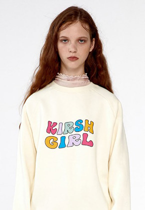 KIRSH키르시 KIRSH GIRL SWEATSHIRTS IA [CREAM]