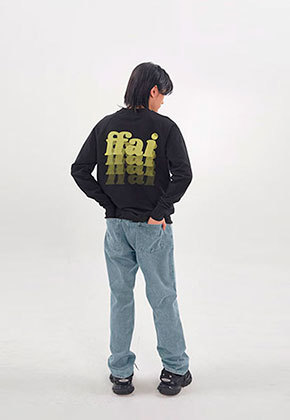 FFAI파이 ffai SMALL LOGO SWEAT-SHIRT_Black