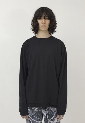Gakuro가쿠로 Psyche L/S T-Shirt (Black)
