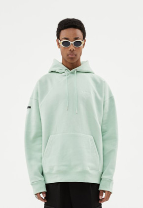 Anderssonbell앤더슨벨 UNISEX FULL NAME LOGO EMBROIDERY HOODIE atb381u(PALE JADE)