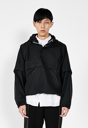 LLUD러드 (LLUD x Afterpray) Anorak Black