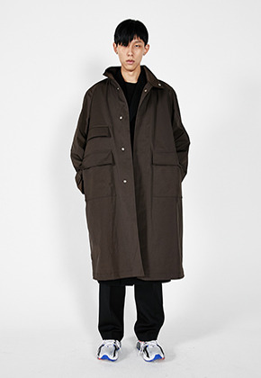 LLUD러드 (LLUD x Afterpray) Over Shell Coat Khaki