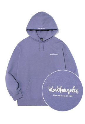 Markgonzales마크곤잘레스 M/G SMALL SIGN LOGO HOODIE PURPLE