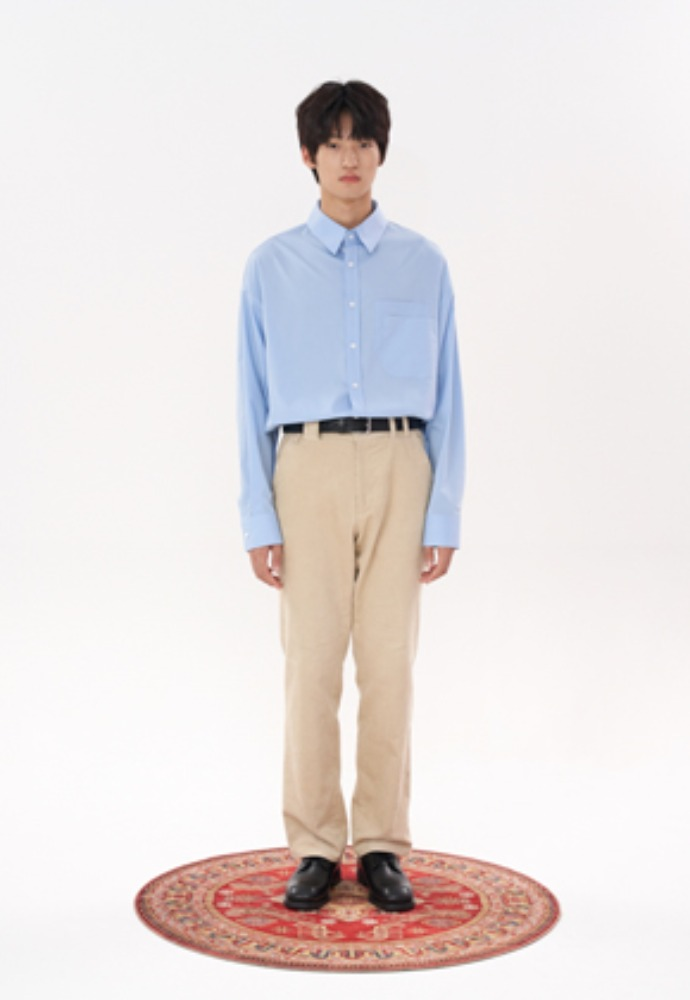 LLUD러드 (LLUD x STU) Double Pocket Shirt Sky Blue
