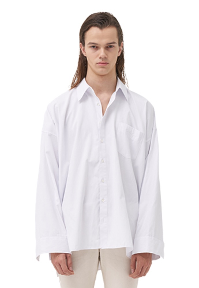 Vuiel뷔엘 OVERSIZED PATTERN SHIRT _ WHITE