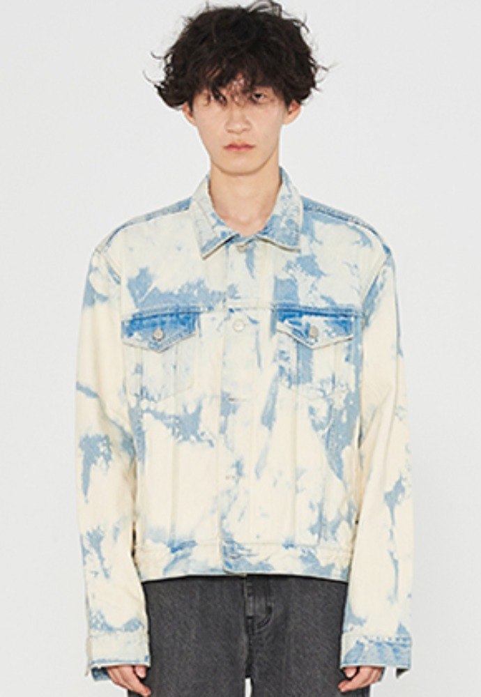 INNER CITY AUDIO이너시티오디오 CLOUD WASHED DENIM JACKET