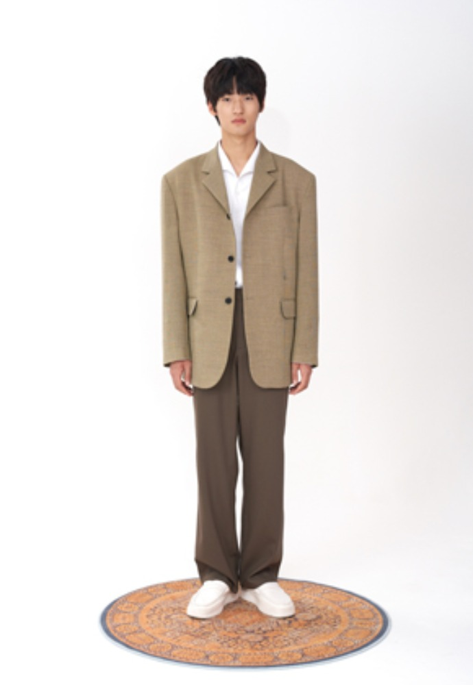 LLUD러드 (LLUD x STU) 3 Button Overfit hook Blazer Yellow