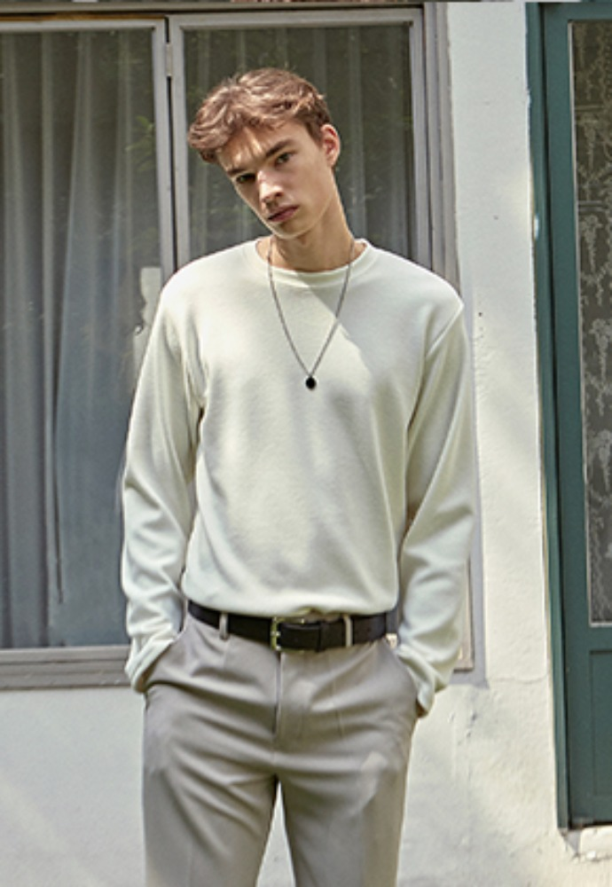 Deans딘스 [DEANS] BASIC WEAR LONG TEE_IVORY