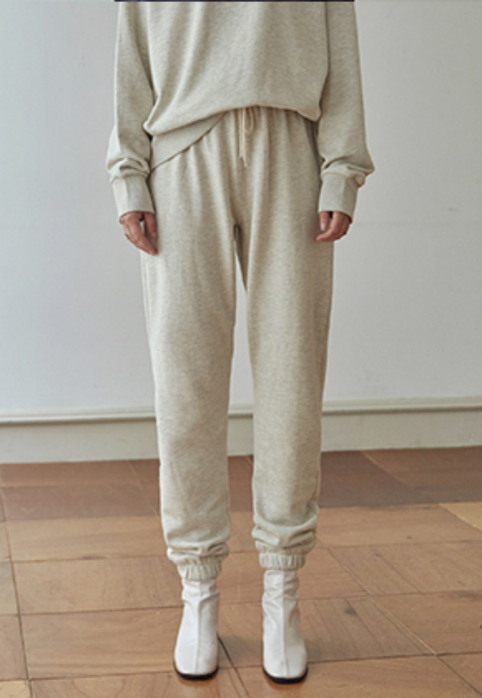 Deans딘스 [DEANS] EASY SWEAT JOGGER PANTS_OATMEAL