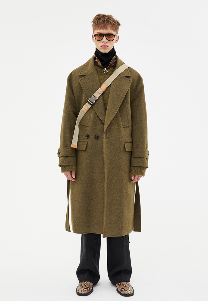 Anderssonbell앤더슨벨 MATTIA MILITARY ROBE COAT awa192u Khaki