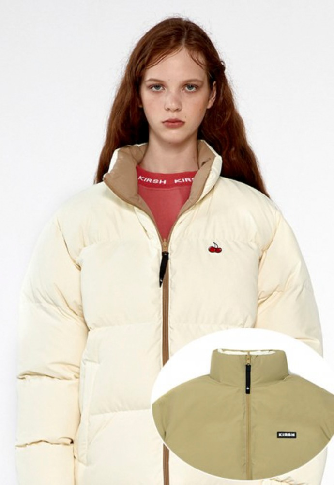KIRSH키르시 BIG CHERRY REVERSIBLE NUPTSE DOWN PADDING IA [IVORY/BEIGE]