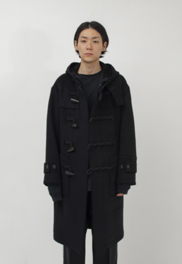 Gakuro가쿠로 DUFFLE COAT - WOOL (BLACK)