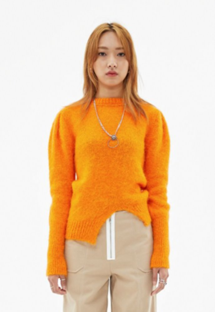 Anderssonbell앤더슨벨 ROYA ALPACA PUFF SLEEVE SWEATER atb384w(Orange)