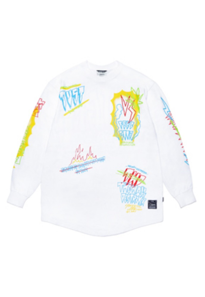 Stigma스티그마 SPECULAR LAYERED LONG SLEEVES T-SHIRTS WHITE