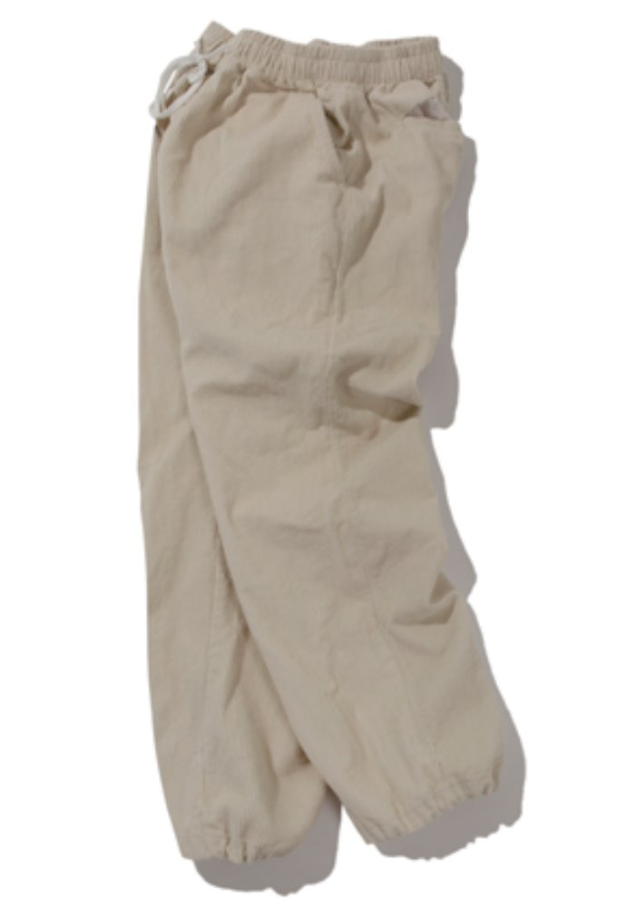 Kruchi크루치 Corduroy Keyring Easy Pants - (cream)