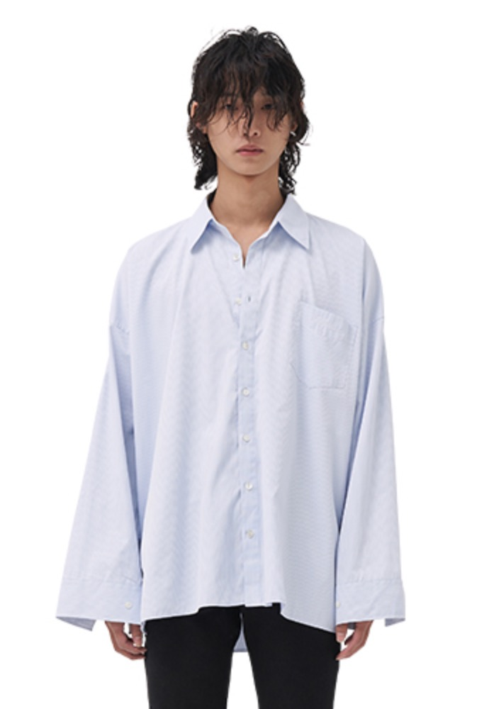 Vuiel뷔엘 OVERSIZED PATTERN SHIRT _ BLUE