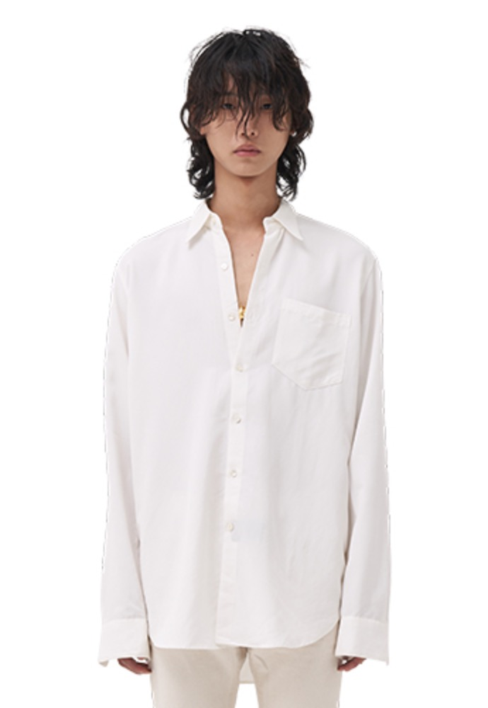 Vuiel뷔엘 LONG SILKET SHIRT _ WHITE