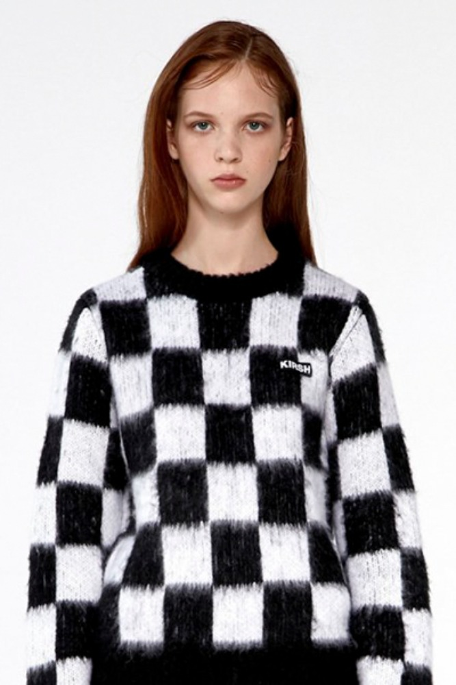 KIRSH키르시 CHECKERED KNIT IA [BLACK]