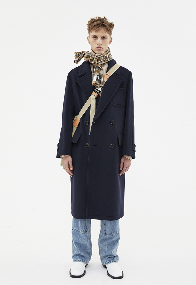 Anderssonbell앤더슨벨 NEW MARTINE DOUBLE BREASTED COAT_NAVY awa177m