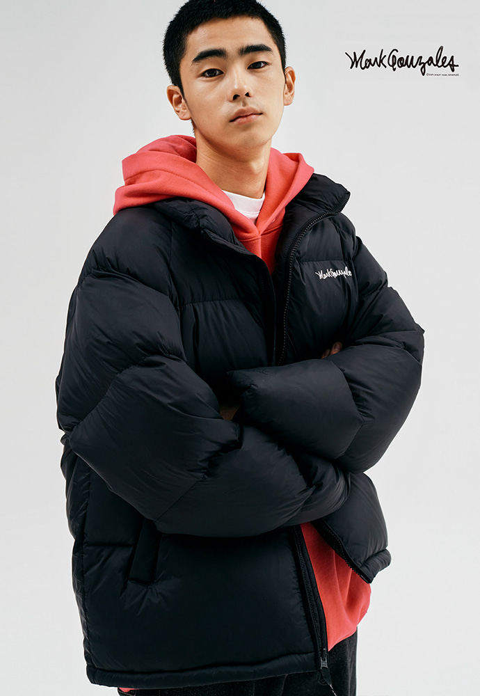 Markgonzales마크곤잘레스 M/G DUCK DOWN PUFFER JACKET BLACK