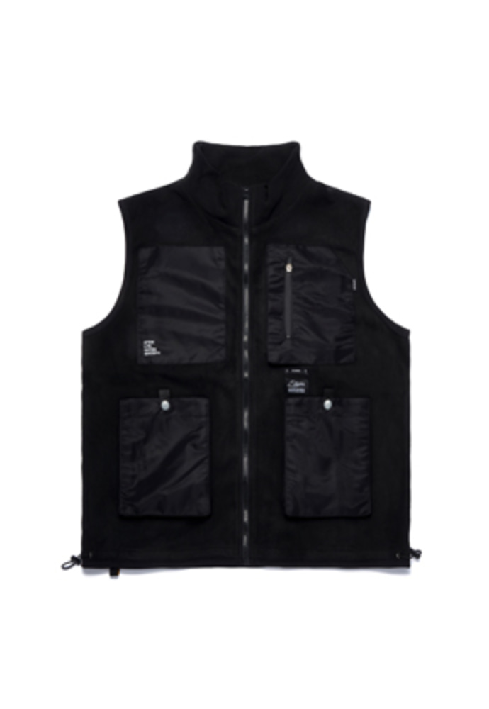 Stigma스티그마 FLIGHT FLEECE VEST BLACK