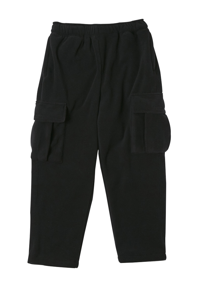 HEAVY Culture헤비컬쳐 Cargo Fleece Pants Black