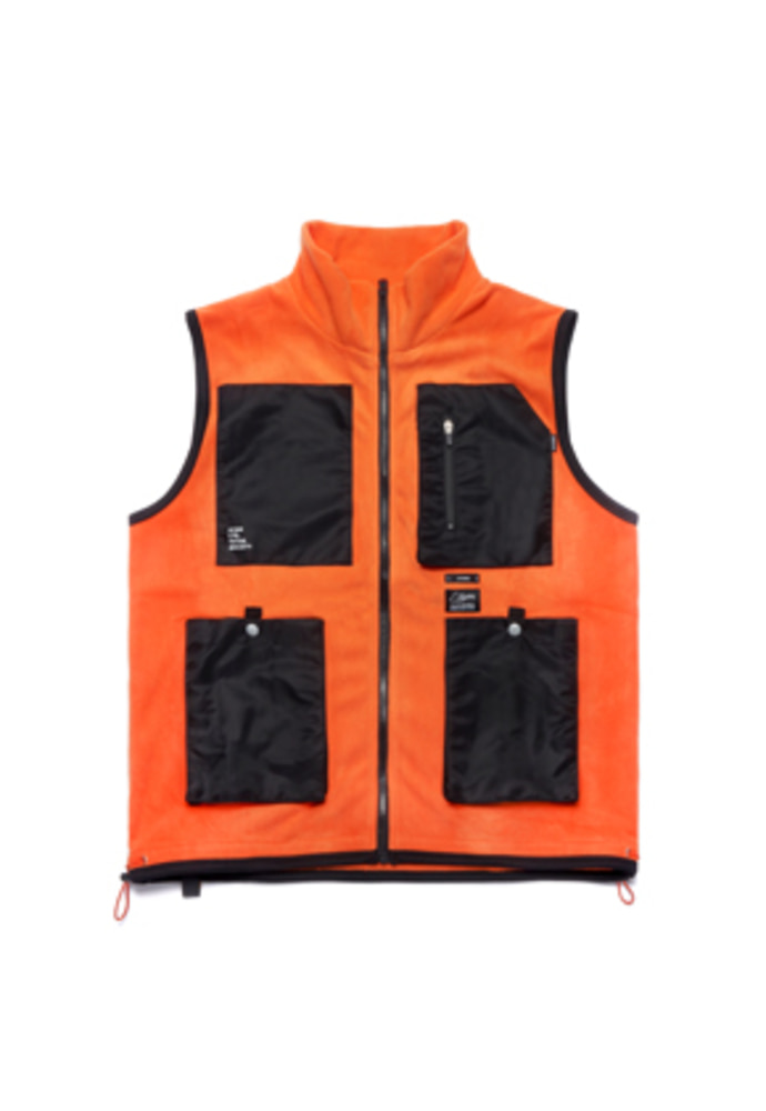 Stigma스티그마 FLIGHT FLEECE VEST ORANGE
