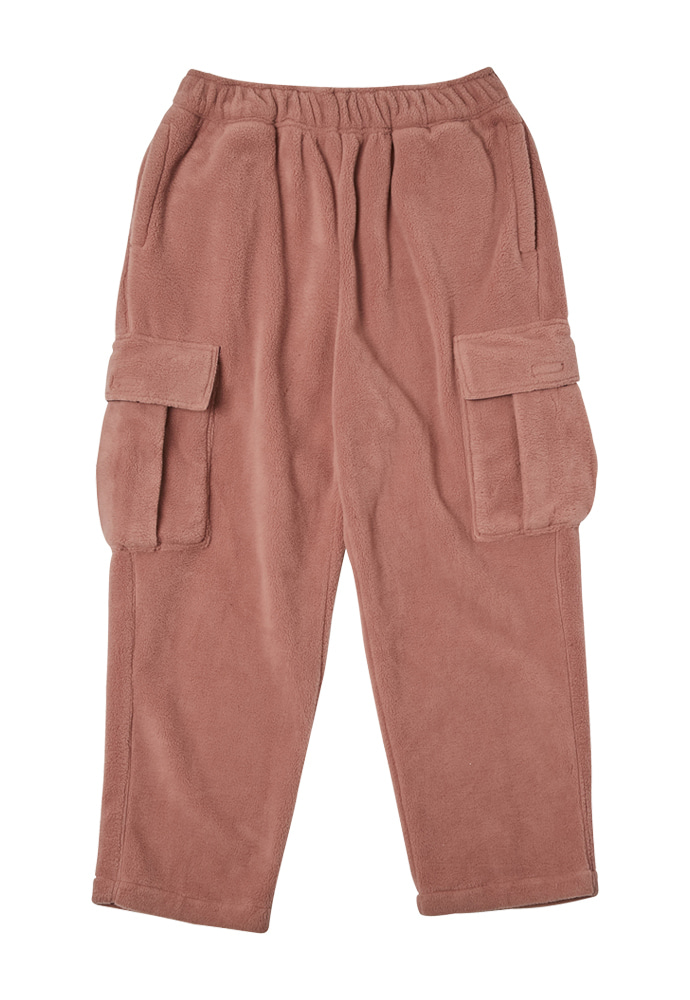 HEAVY Culture헤비컬쳐 Cargo Fleece Pants Pink