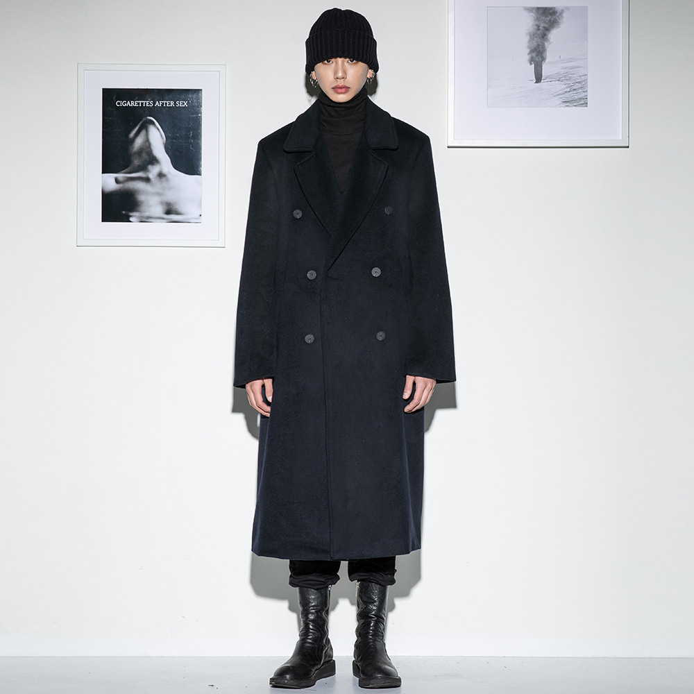 Flare up플레어업 [FLARE] over double long coat (FL-009) - NAVY