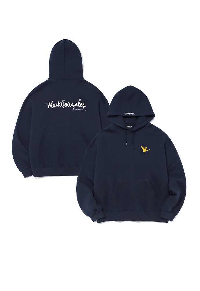 Markgonzales마크곤잘레스 M/G EMBROIDERY ANGEL HOODIE NAVY