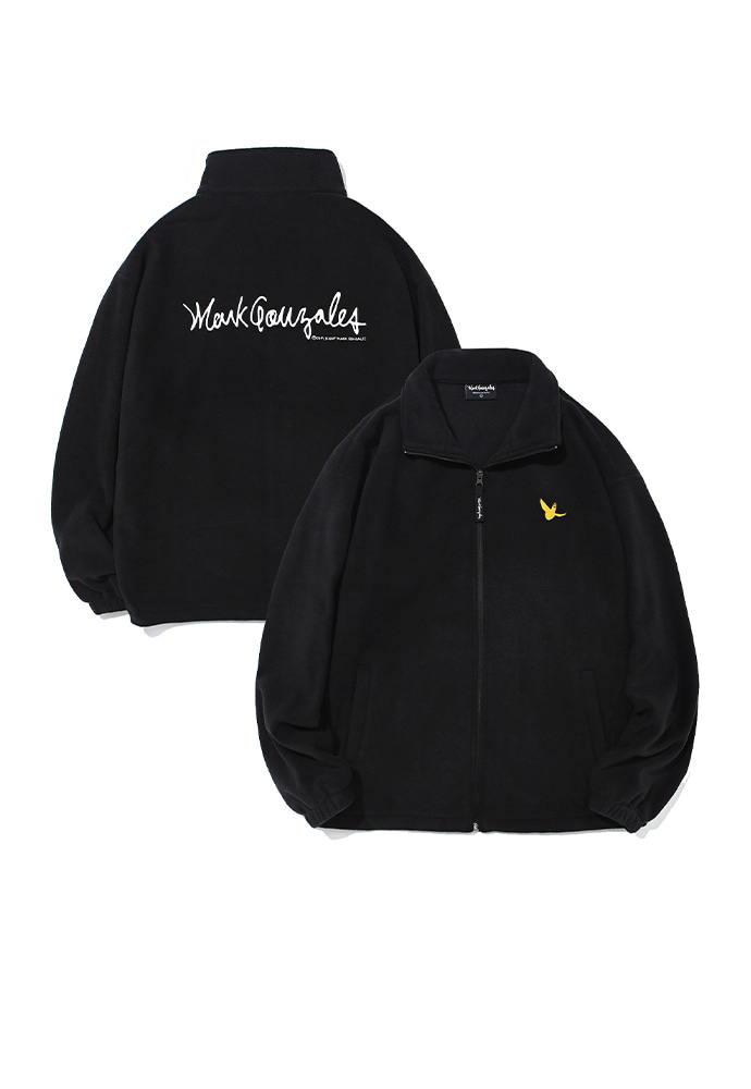 Markgonzales마크곤잘레스 M/G ANGEL FLEECE ZIP UP BLACK