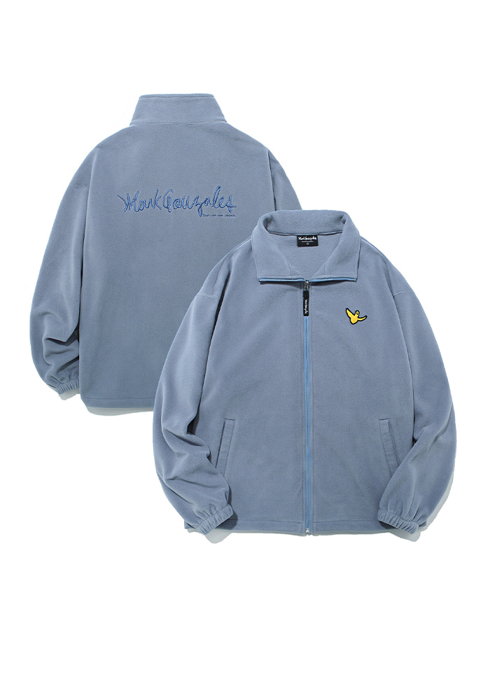 Markgonzales마크곤잘레스 M/G ANGEL FLEECE ZIP UP LIGHT BLUE