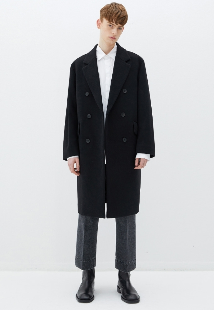 Garment lable가먼트레이블 GL Double Coat - Black