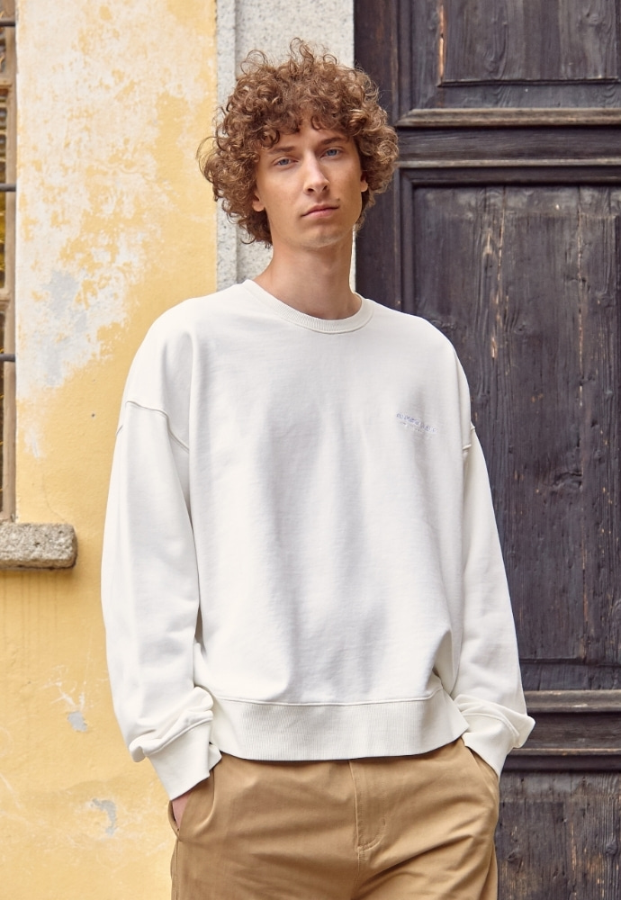 Garment lable가먼트레이블 Relaxed Sweatshirts - Cream