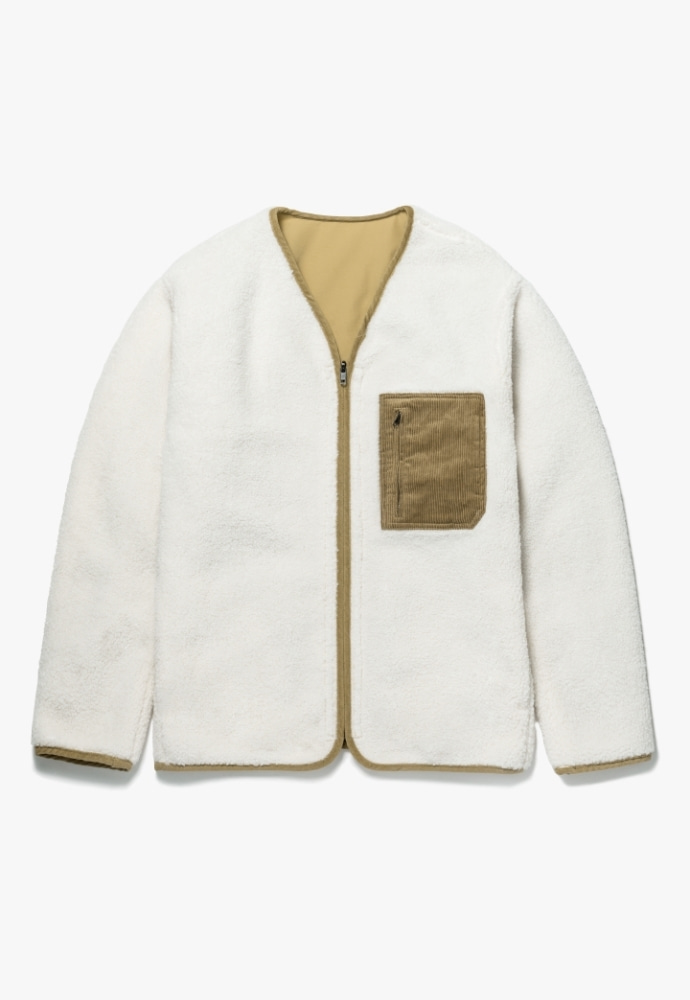 Garment lable가먼트레이블 Reversible Boa Fleece Jacket - Ivory