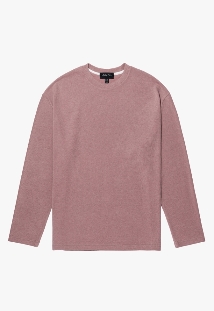 Garment lable가먼트레이블 Knit Long Sleeve Tee - Dusty Pink