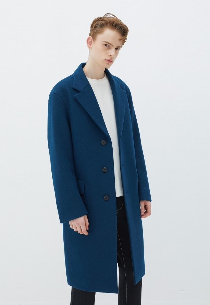 Garment lable가먼트레이블 GL Single Coat - Blue Green