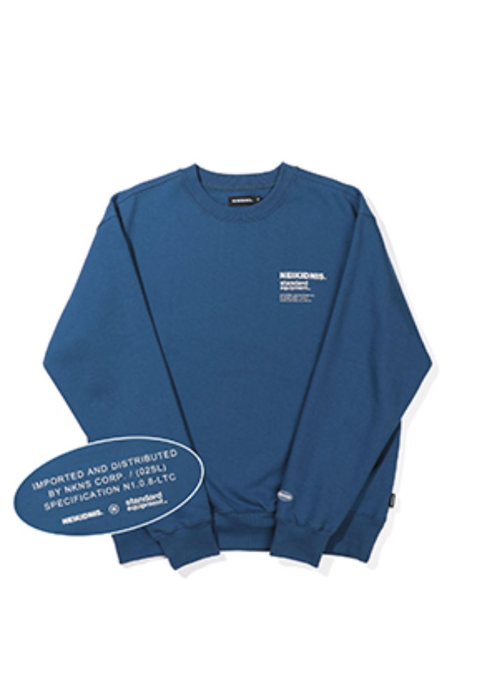 NEIKIDNIS네이키드니스 [기모] SPEC LOGO SWEAT SHIRT / INDIGO