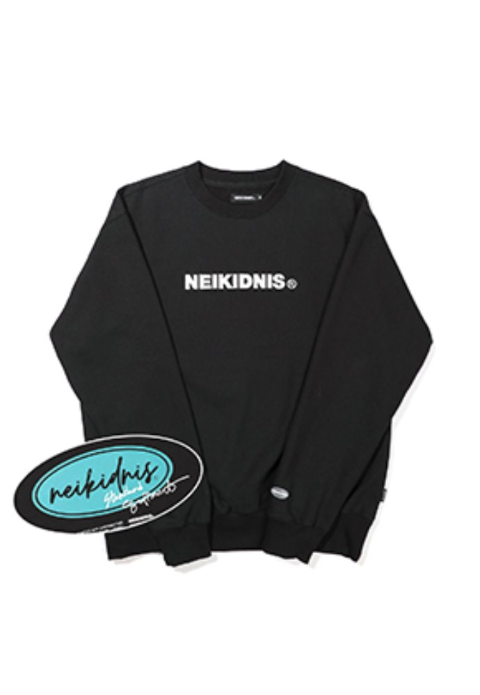 NEIKIDNIS네이키드니스 [기모] BOLD LOGO SWEAT SHIRT / BLACK