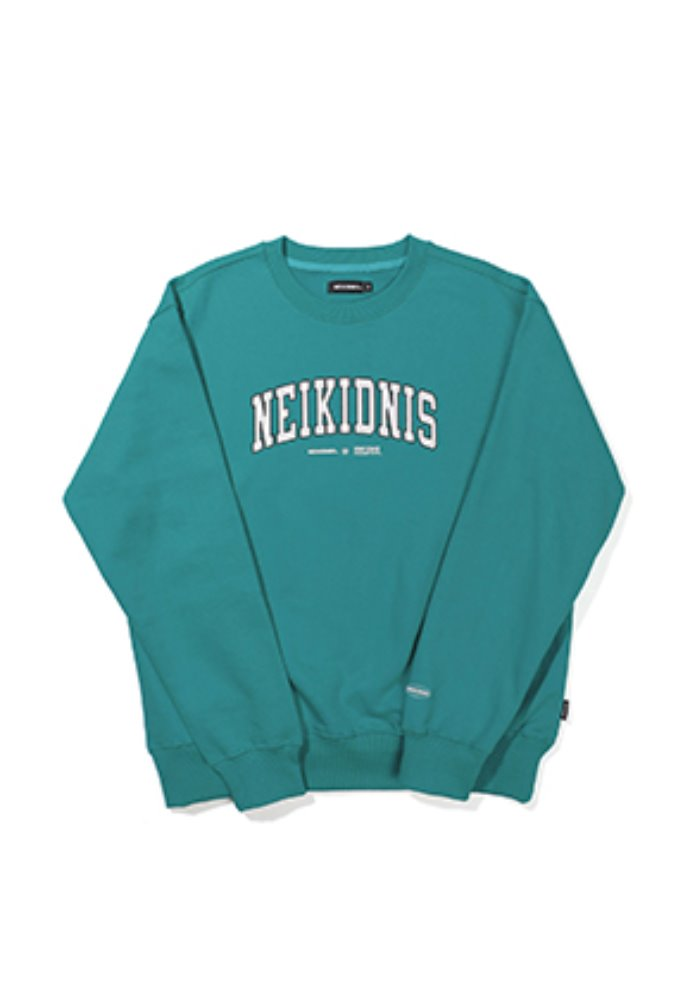 NEIKIDNIS네이키드니스 [기모] CURVED LOGO SWEAT SHIRT / MINT