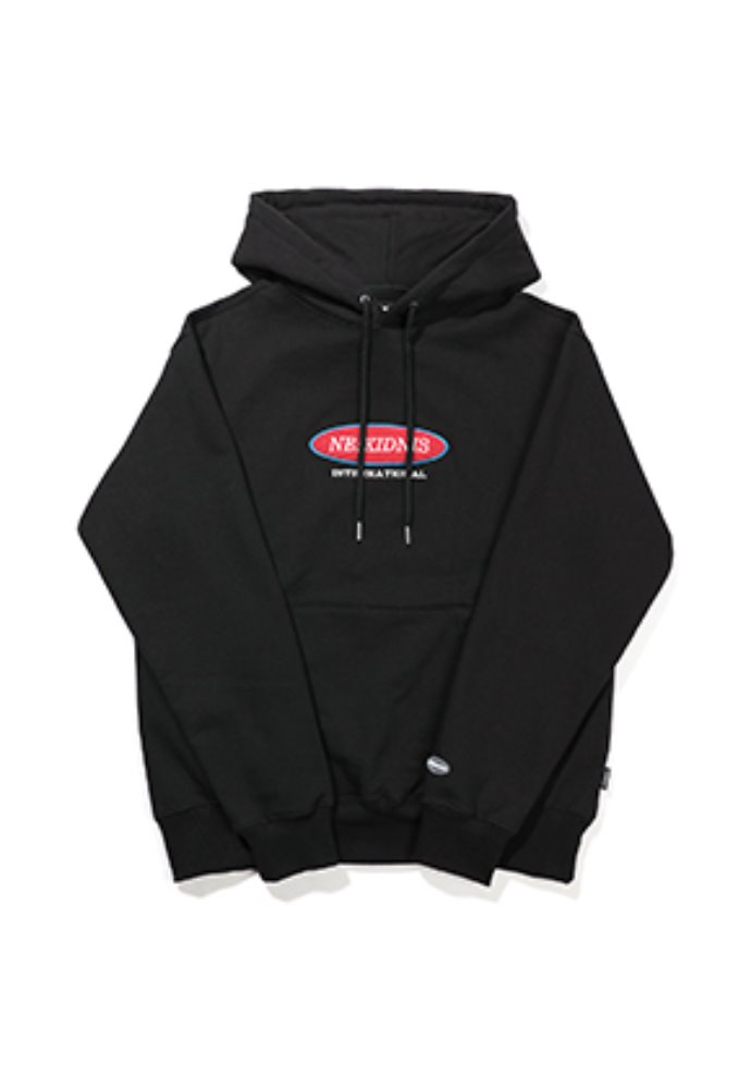 NEIKIDNIS네이키드니스 [기모] INTERNATIONAL HOODIE / BLACK