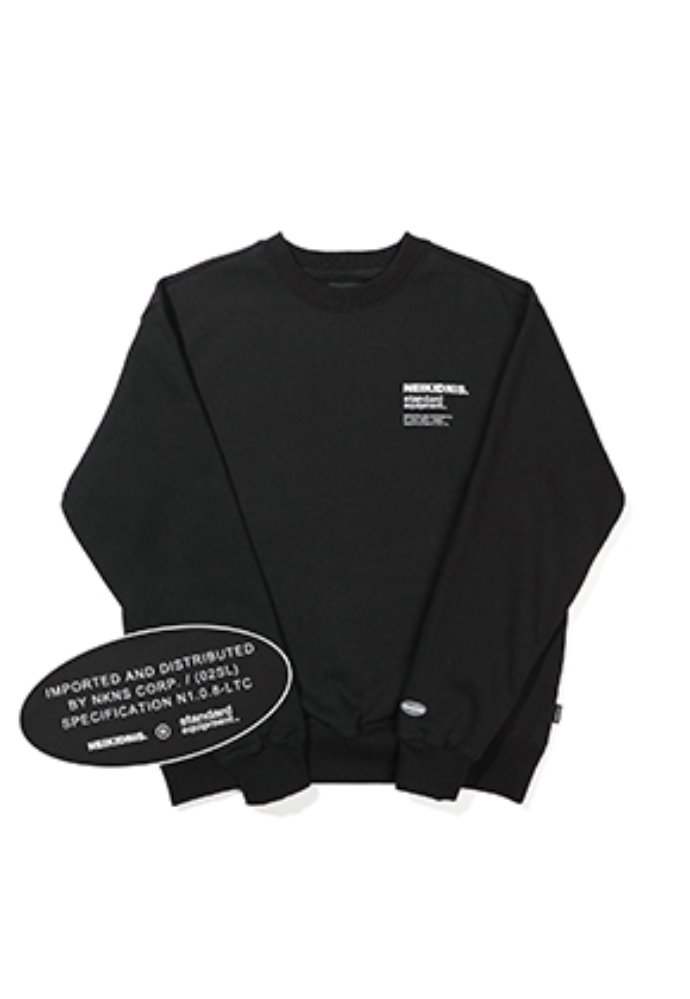 NEIKIDNIS네이키드니스 [기모] SPEC LOGO SWEAT SHIRT / BLACK