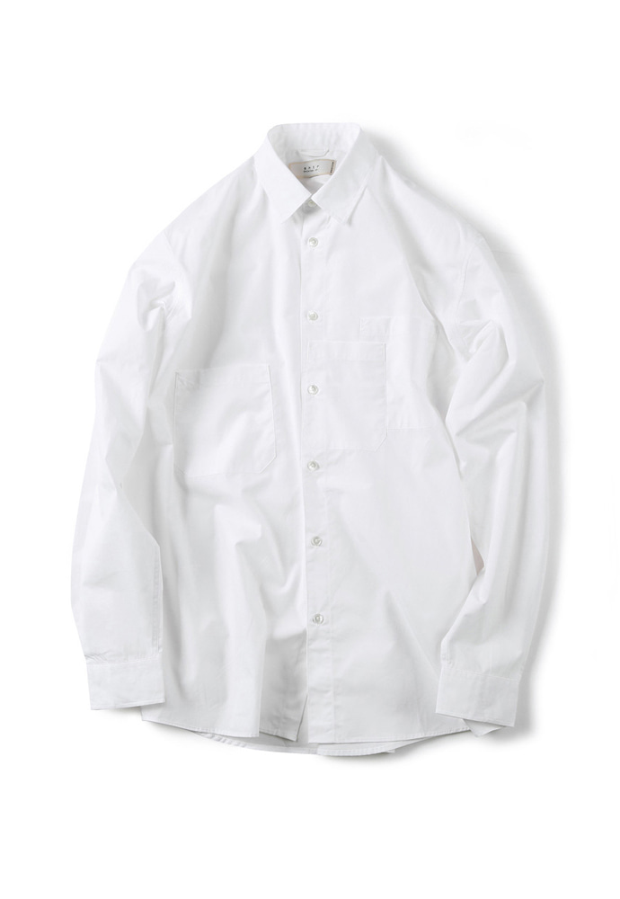 Shirter셔터 STRATA POCKET SHIRT WHITE
