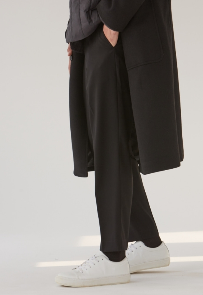 Garment lable가먼트레이블 GL Tapered Slacks - Black