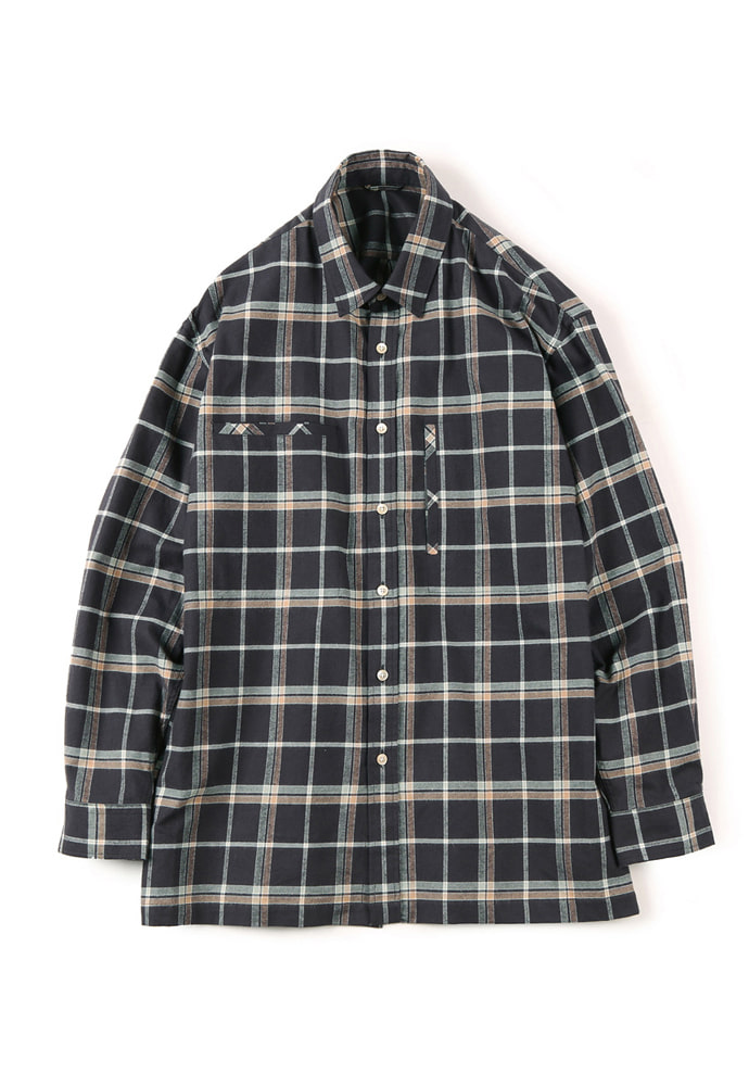 Shirter셔터 FLANNEL OVER BOX SHIRT CHECK BROWN