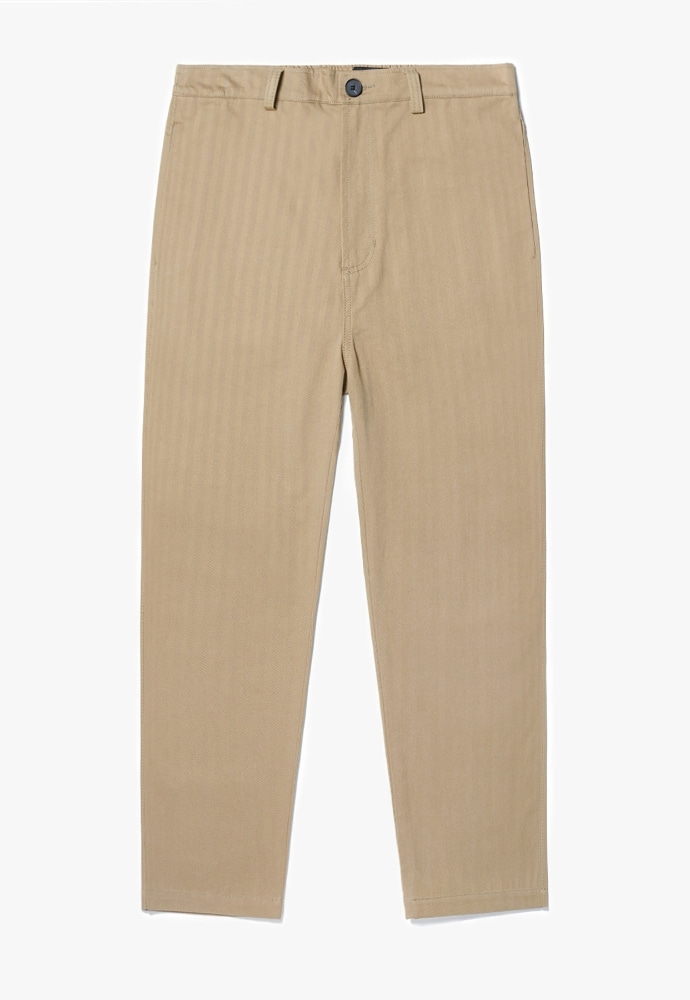 Garment lable가먼트레이블 Herringbone Cotton Pants - Beige