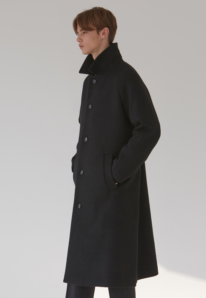 Garment lable가먼트레이블 Raglan Sleeve Mac Coat - Black